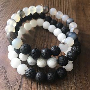 Stacked trio Aromatherapy diffuser bracele…